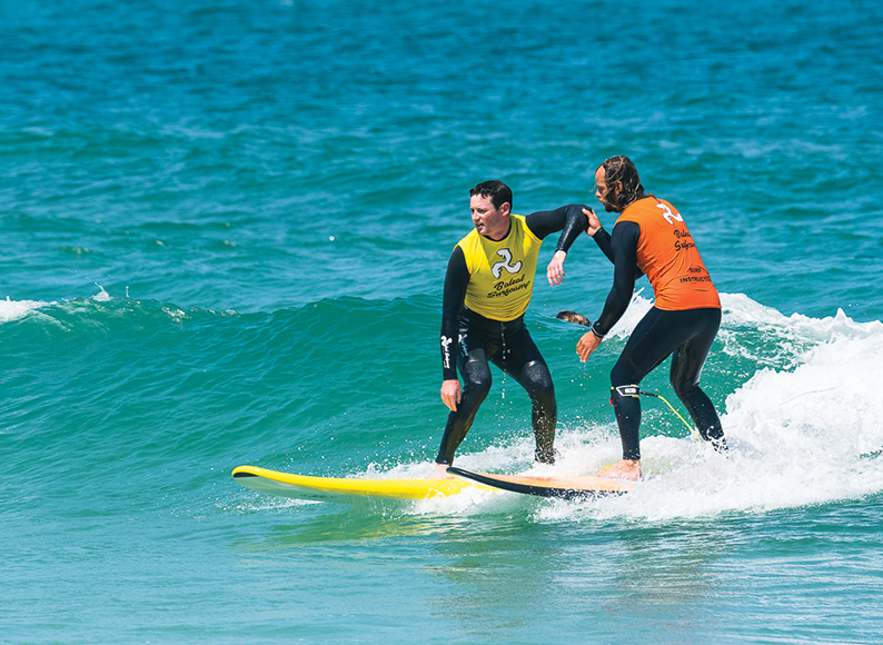Baleal-Surf-Camp-training-in-the-water-intermediate-surfer-baleal-peniche-portugal