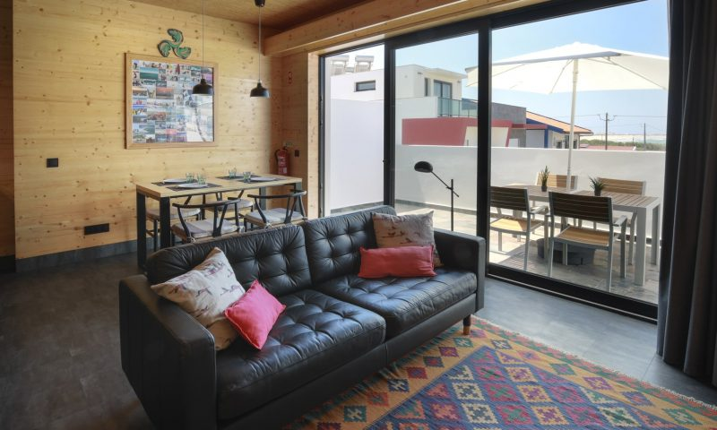 Surfers Nest apartment - living room view - Baleal Surf Camp-min