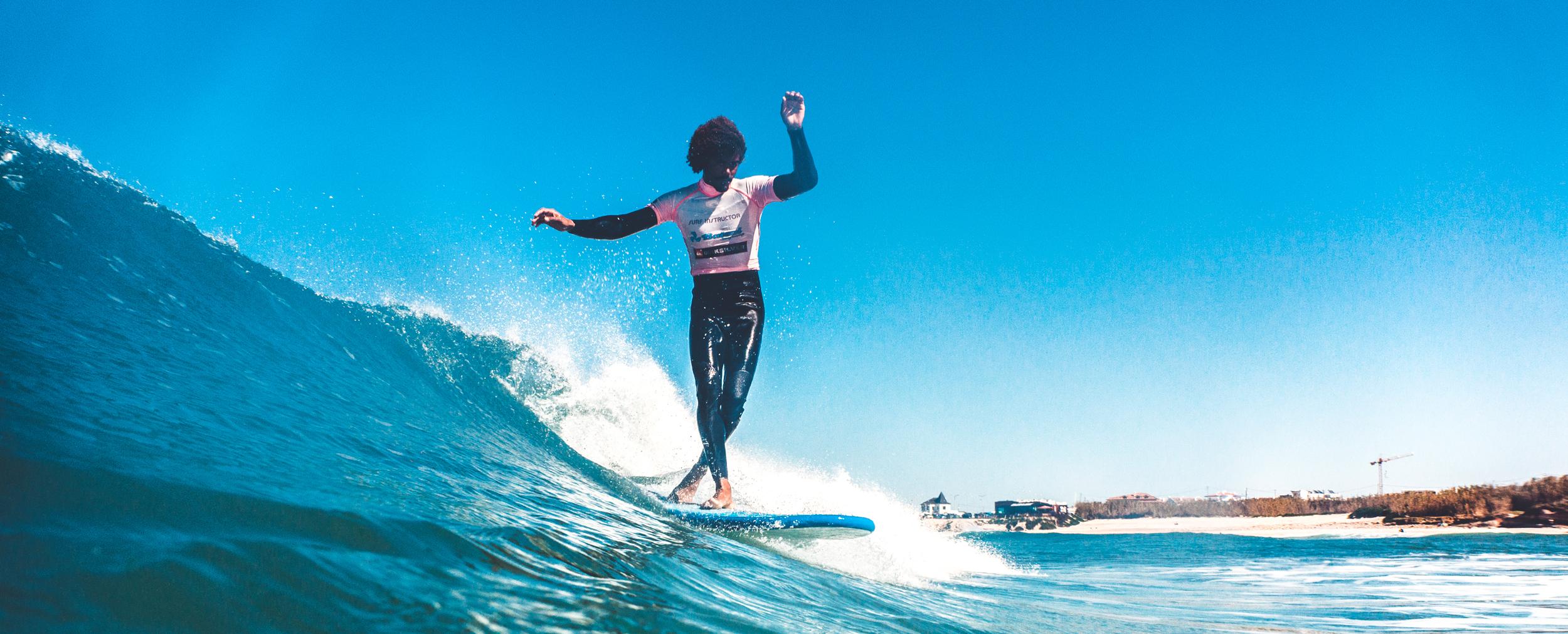 Baleal surfcamp - Kaby sliding